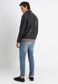 Schott - FUEL - Leather jacket - black - 2