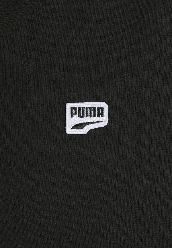 Puma DOWNTOWN HOODIE - Bluza z kapturem - black/multi color/czarny Odzież Męska PJSX
