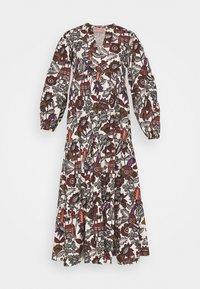 Scotch & Soda - VOLUMINOUS PRINTED ORGANIC DRESS - Denní šaty - white/brown - 4