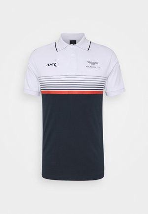 STRIPE BLOCK - Poloshirt - white/navy