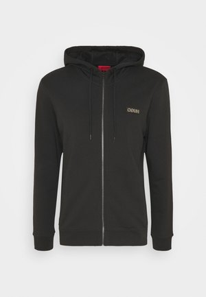 DINORO - veste en sweat zippée - black/gold