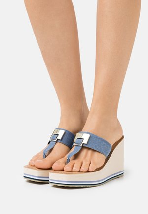 ACARENIA - T-bar sandals - blue