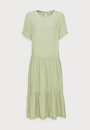 PIA MOROCCO FRILL DRESS - Day dress - reseda