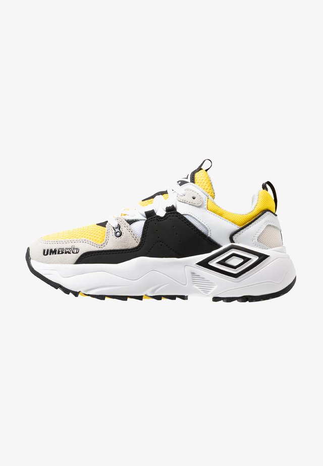 RUN - Sneakers laag - white/black/blazing yellow/grey