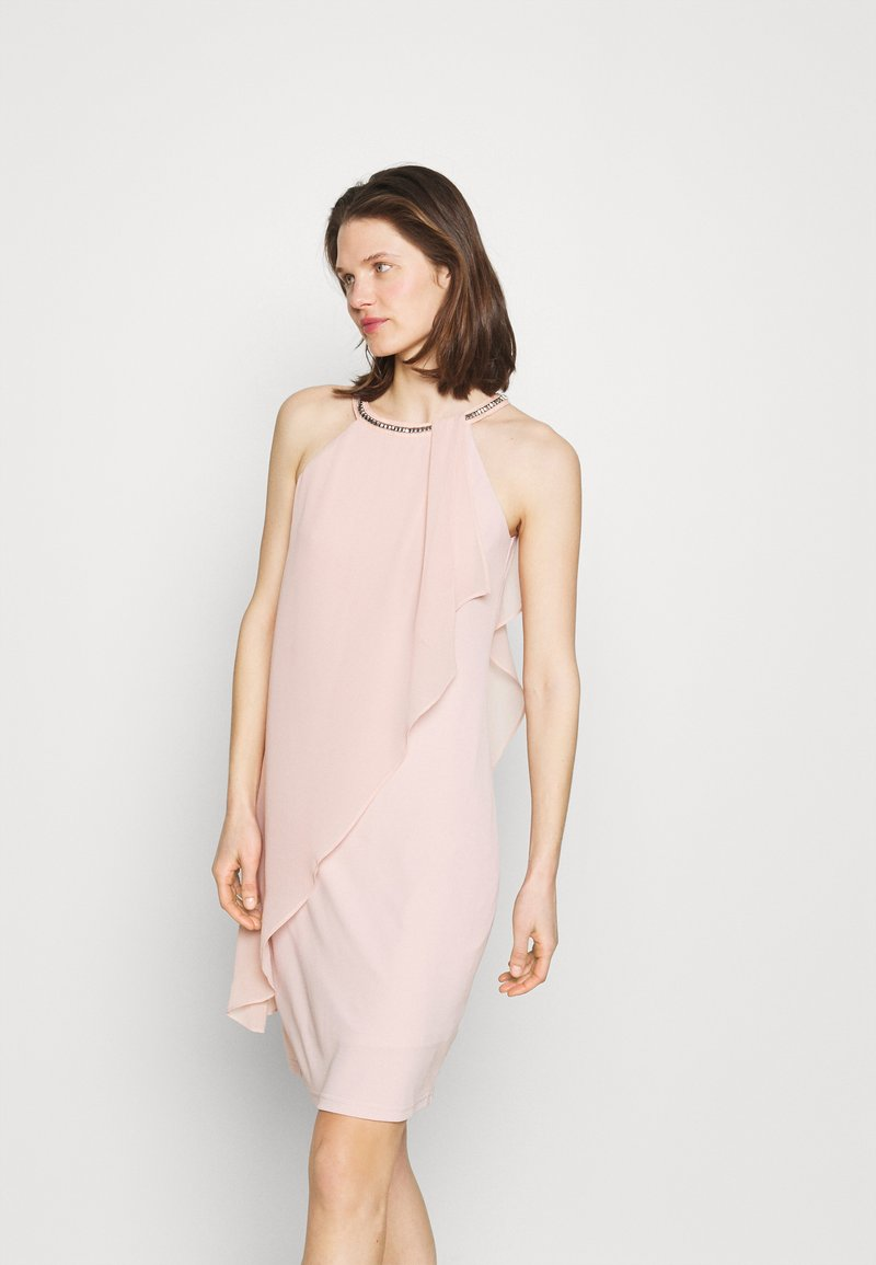 Esprit Collection - ASYM DRESS - Cocktailklänning - nude