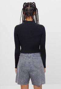 Bershka - Long sleeved top - black - 2