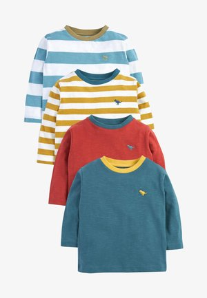 4 PACK - Long sleeved top - light red yellow blue