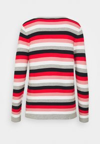 TOM TAILOR - SWEATER NEW OTTOMAN - Jumper - navy/red - 1