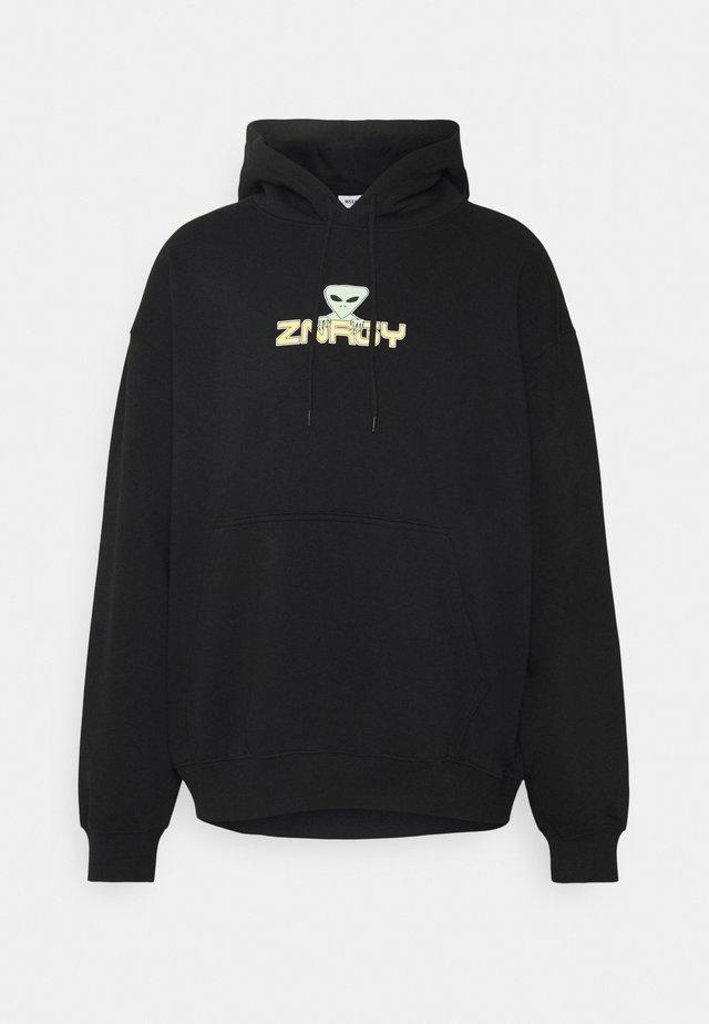 OVERSIZED PRINTED HOODIE - Sweater - black