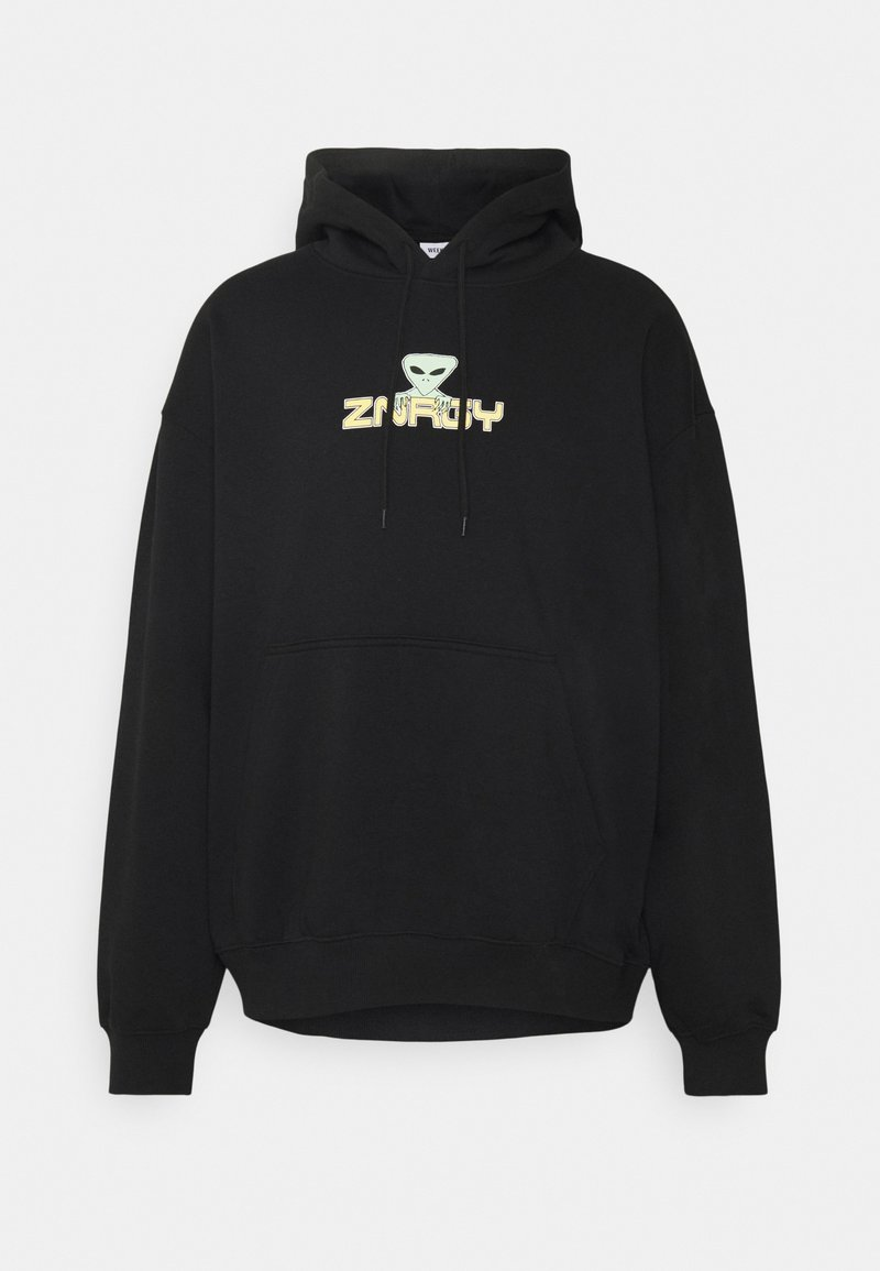 Weekday - OVERSIZED PRINTED HOODIE - Sweatshirt - black