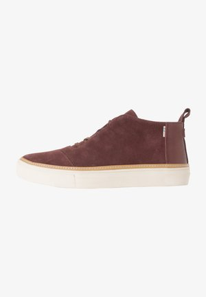 RILEY - Trainers - forest brown suede/pearlized metallic