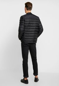 Superdry - COMMUTER QUILTED BIKER - Light jacket - jet black - 2