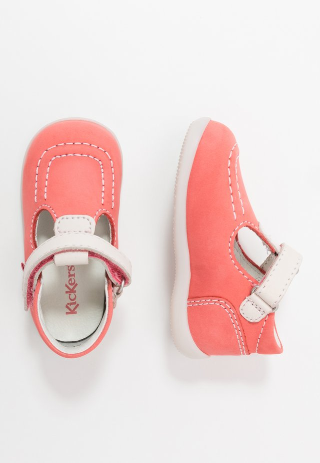 BONBEKRO - Baby shoes - rose/blanc