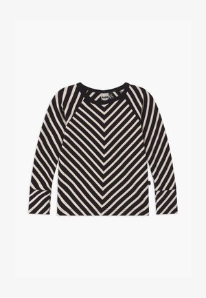STRIPE UNISEX - Long sleeved top - black sand