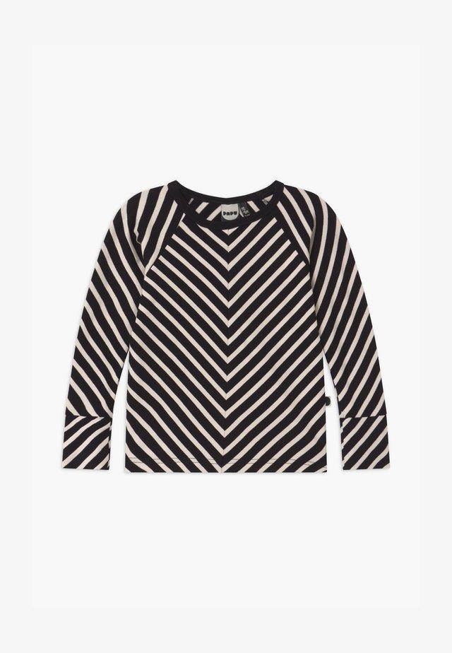 STRIPE UNISEX - T-shirt à manches longues - black sand