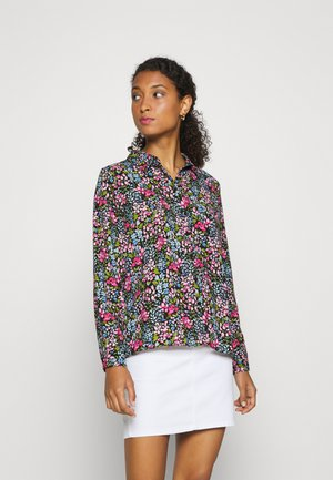 JDYLION - Button-down blouse - black/multicolor