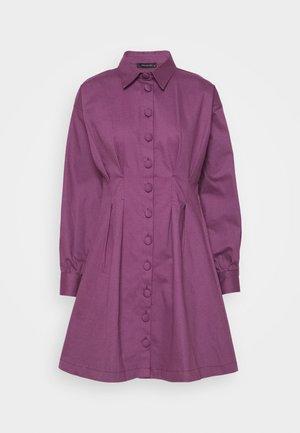 Vestido camisero - plum