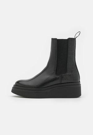 PADDLE - Kilestøvletter - black