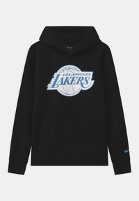 Nike Performance - NBA CITY EDITION LA LAKERS LOGO HOODIE UNISEX - Klubové oblečení - black - 0