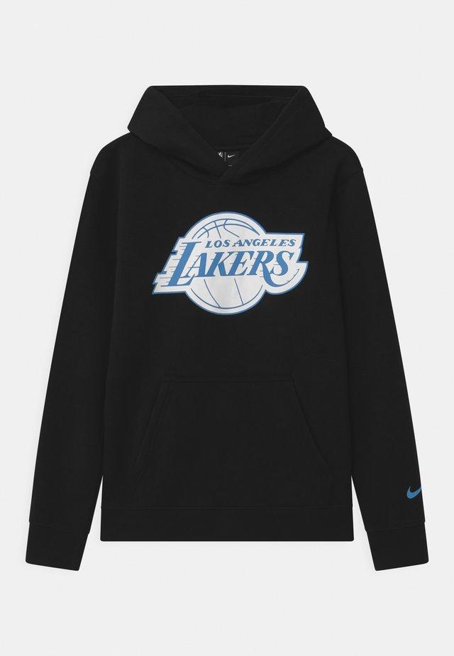 NBA CITY EDITION LA LAKERS LOGO HOODIE UNISEX - Squadra - black