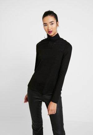 VMMALENA HIGNECK BLOUSE - Top sdlouhým rukávem - black