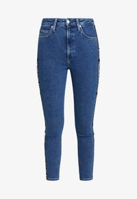 Calvin Klein Jeans - 010 HIGH RISE SKINNY ANKLE - Jeans Skinny Fit - dark blue denim - 4