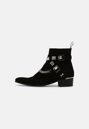 CARLITO DOUBLE STRAP - Kovbojské/motorkářské boty - black