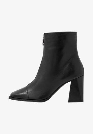 HEIDI ZIP BOOT - High heeled ankle boots - black