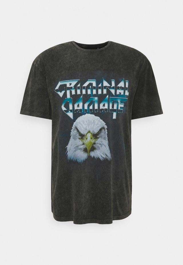 BOLD TEE - T-shirt imprimé - black