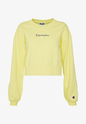 CREWNECK CROPTOP - Bluza - yellow