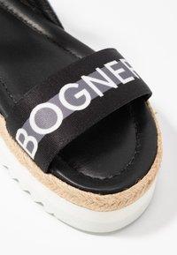 Bogner - POSITANO - Espadrilky - black/white/grey - 2