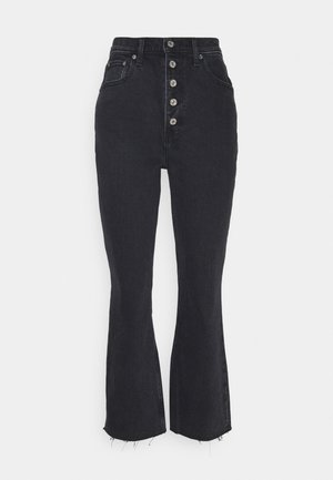 CURVE KICK FLARE WITH BUTTON DETAIL - Flared Jeans - black
