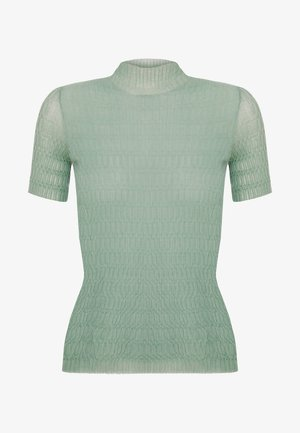 KNIT TOP - Jednoduché triko - dusty green