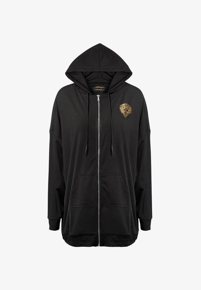 LOVE ED OVERSIZE ZIP HOODY - veste en sweat zippée - black
