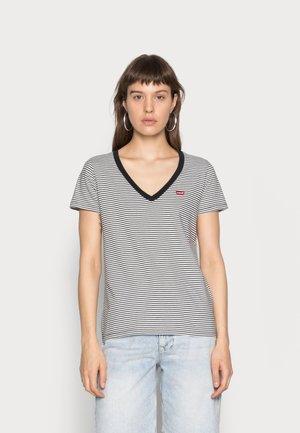 PERFECT V NECK - Print T-shirt - cloud dancer