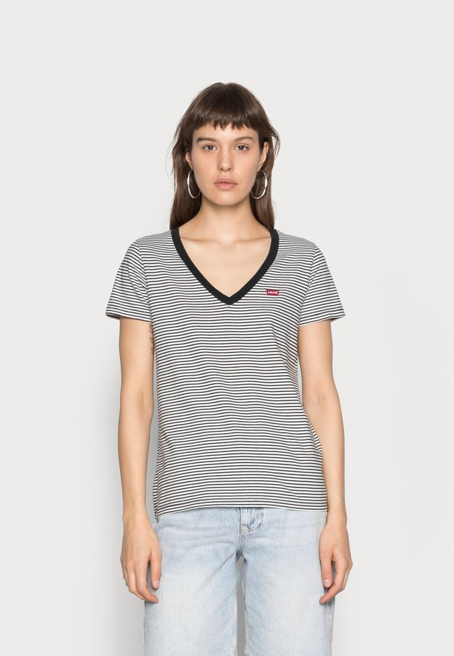 PERFECT V NECK - T-shirt z nadrukiem - cloud dancer