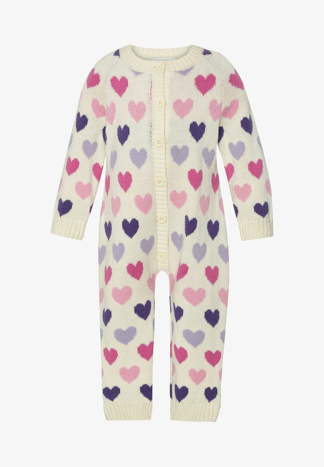 Jumpsuit - off white heart