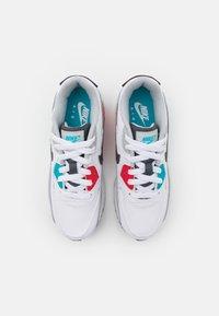 Nike Sportswear - AIR MAX 90 - Sneakers laag - white/iron grey/chlorine blue - 3