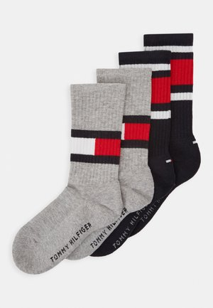 KIDS FLAG 4 PACK - Socks - middle grey melange