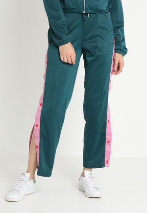 LADIES BUTTON UP TRACK PANTS - Tracksuit bottoms - jasper/coolpink/firered