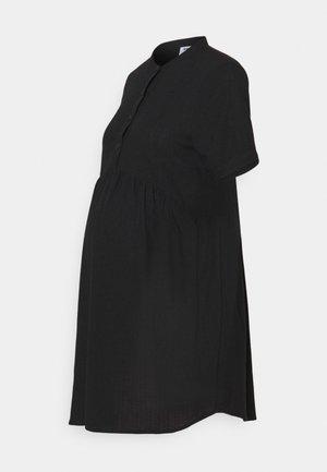 MATERNITY WOVEN TEXTURED MINI DRESS - Day dress - black