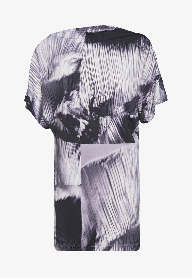 T-shirt z nadrukiem - black/lilac