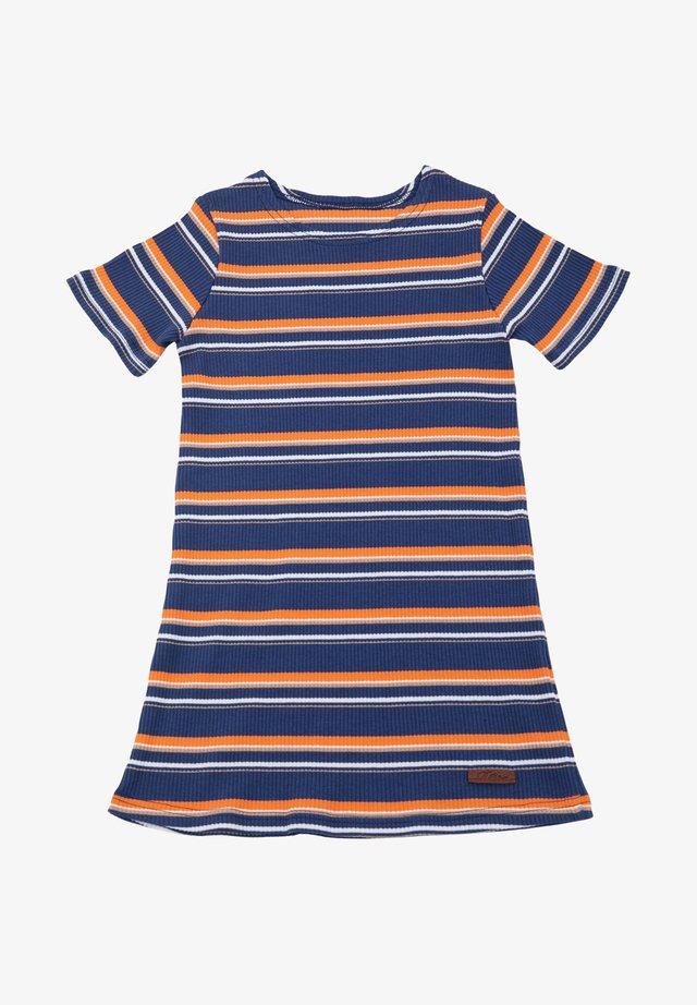 Stickad klänning - blue