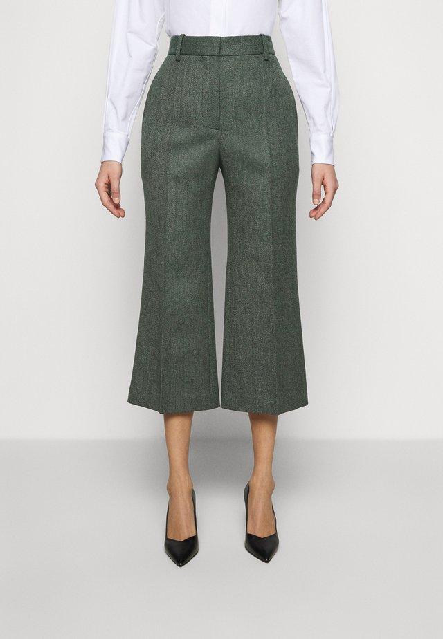 CROPPED FLARE - Pantaloni - green melange