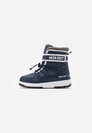 BOY WP - Winter boots - blue navy/white