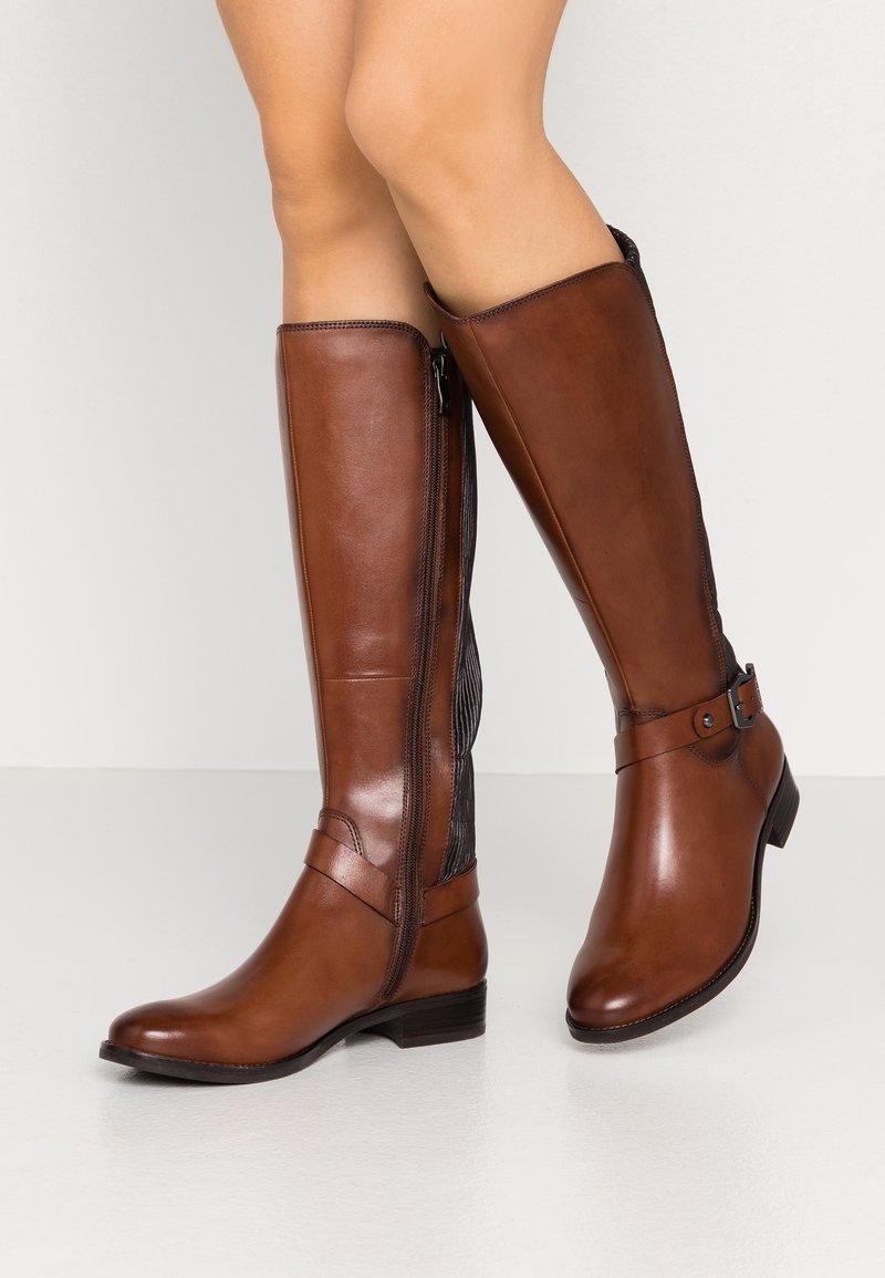 Caprice - BOOTS - Vysoká obuv - cognac