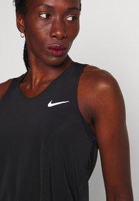 Nike Performance - TANK BREATHE - Sports shirt - black/reflective silver - 5