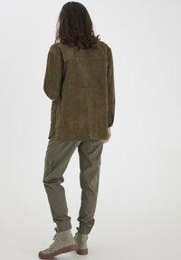 Fransa - FRMACORDUROY - Summer jacket - dark olive - 2