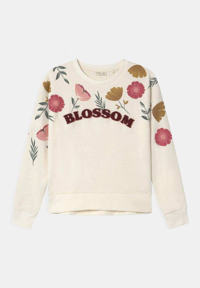 OVS - FLOWERS - Sudadera - cannoli cream