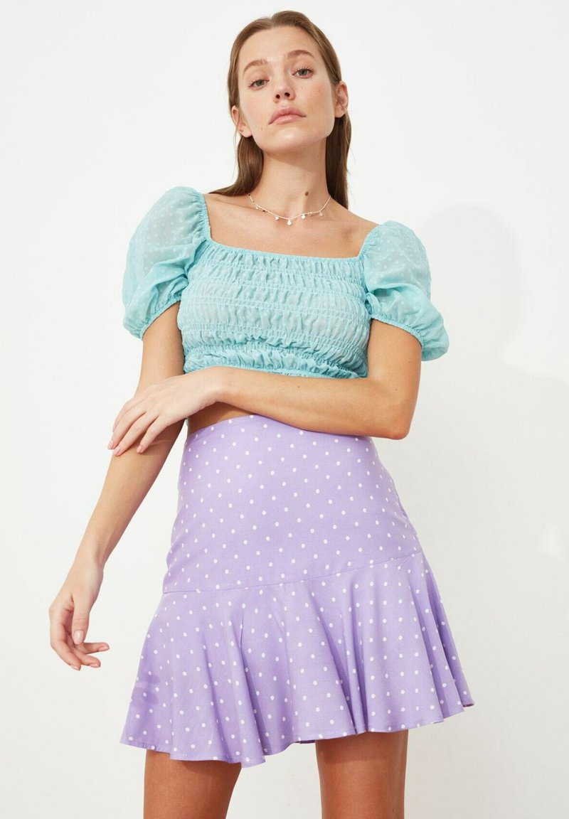 Trendyol - PARENT - A-line skirt - purple